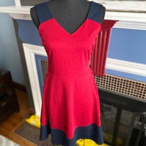 41 Hawthorn Stitch Fix dress, navy/red, sz M